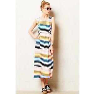 Anthropologie Dusen Dusen Midi Dress Striped